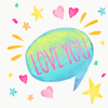 Love Watercolor stickers Wiki