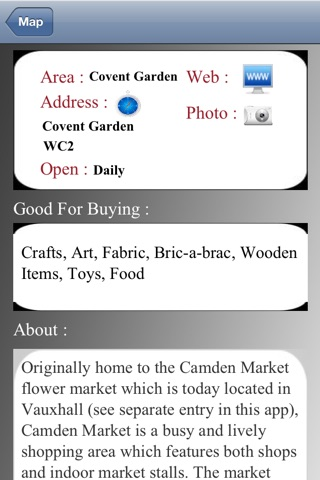 London Market Guide screenshot 2