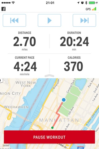 Map My Fitness by Under Armour screenshot 1