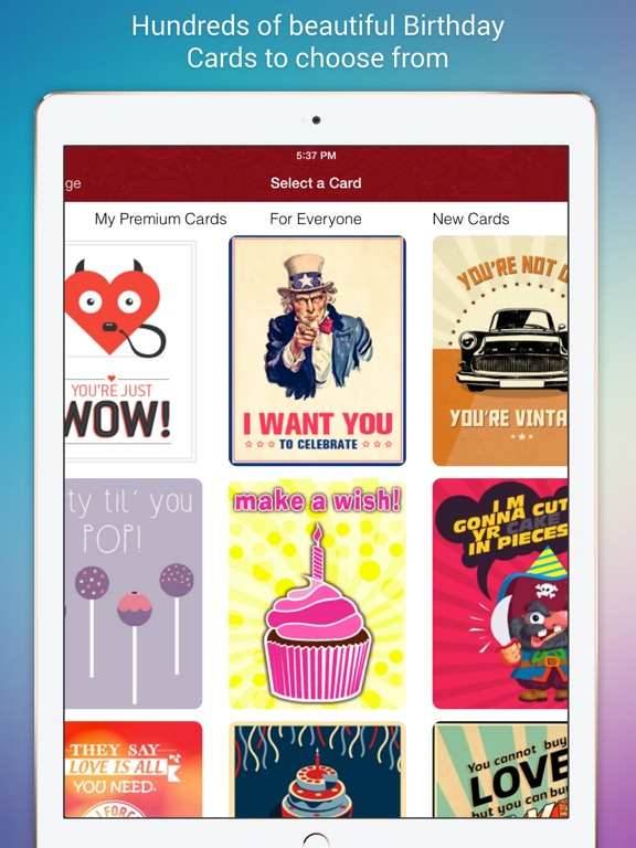 Birthday cards for friends by face it applications llc screenshots ipad screenshots ipad bookmarktalkfo Image collections