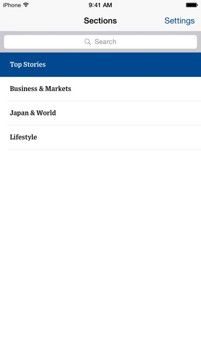 The Wall Street Journal.スクリーンショット