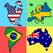 국기 - 세계의 모든 대륙