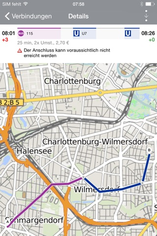 BVG FahrInfo Plus Berlin screenshot 3