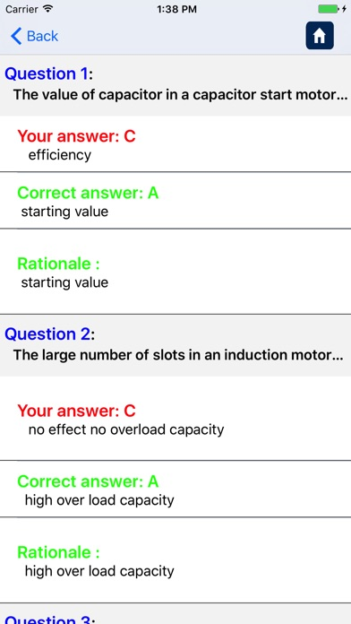 Screenshot of Ingegneria Elettrica Quiz Free5
