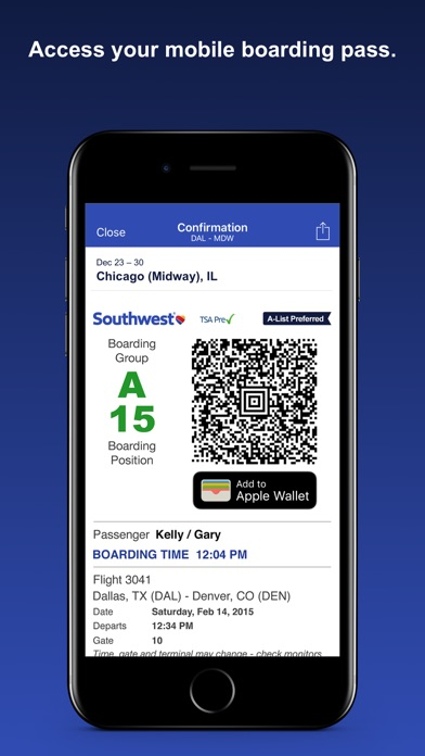 download Southwest Airlines apps 3