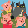 Irene Deev - Three Little Pigs vs The Wolf artwork