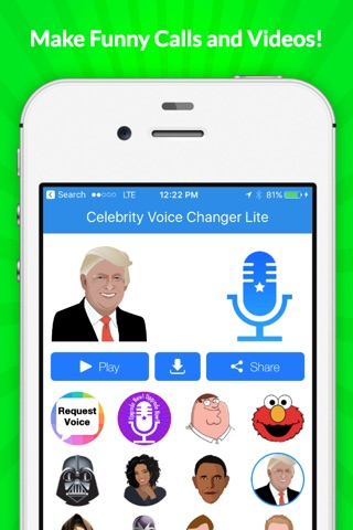 Voice Changer -Celebrity Emoji screenshot 2