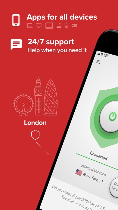 Screenshots of ExpressVPN - Fast VPN Proxy with Free Trial for iPhone