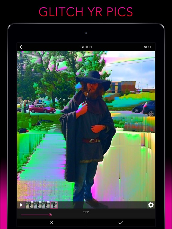 Screenshot #2 for Glitch Wizard - Distort Photos to Trippy GIFs