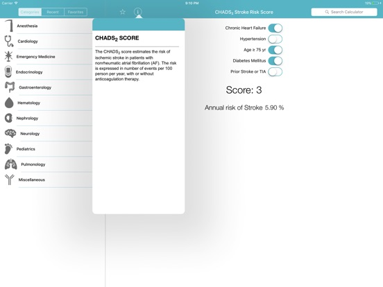 CliniCalc Medical Calculator截图2