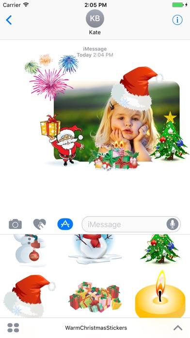 Warm Christmas Stickers review screenshots
