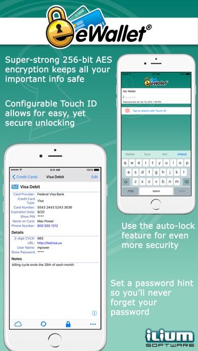 eWallet - Password Manager and Secure Storage Database Wallet Screenshot 2