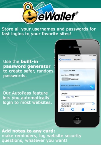 eWallet - Password Manager screenshot 4