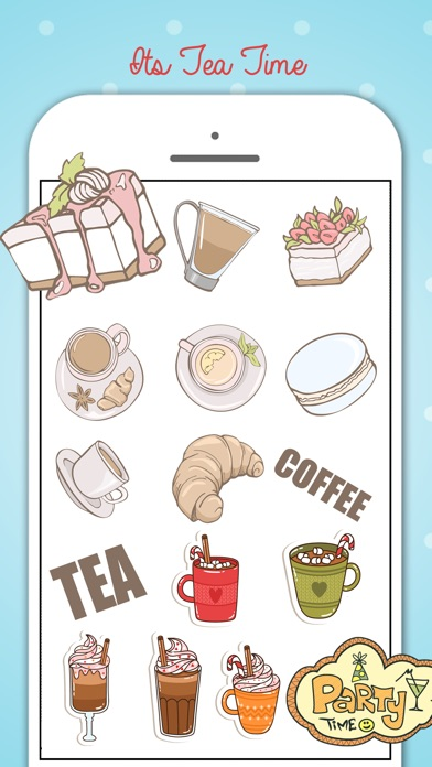 Tea Party Stickers Pack screenshot 1