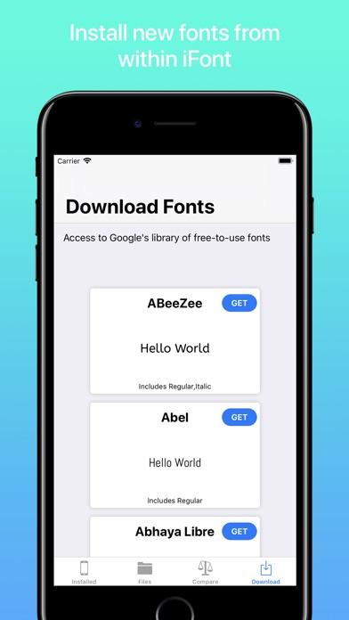 iFont - Install any font!スクリーンショット