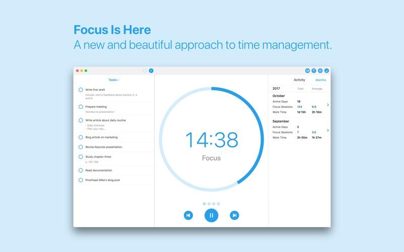 Focus - Produktivitätstimer Screenshot