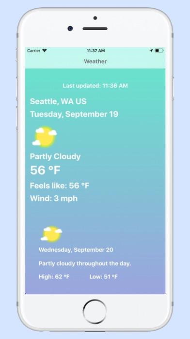 Weather - Pro - Blue Screenshot 1