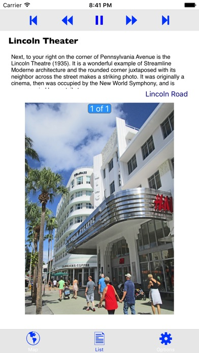 miami beach art deco gps tour app report on mobile action. Black Bedroom Furniture Sets. Home Design Ideas