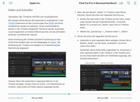"""Final Cut Pro X-Benutzerhandbuch"""" von Apple Inc. in iBooks"""
