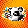 熊貓表情符號貼紙 - TriMatrix Stickers