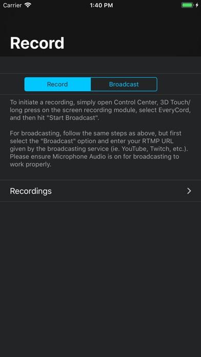 EveryCord – Record & Broadcast screenshot 1