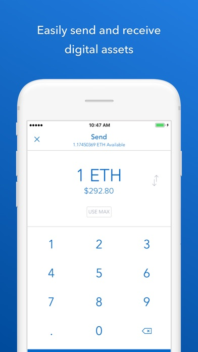 Screenshots of Coinbase - Buy Bitcoin & more. Secure Wallet. for iPhone