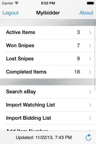 Myibidder Auction Sniper PPS screenshot 1