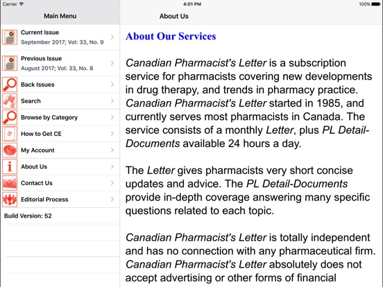 Canadian Pharmacist'S Letter® On The App Store