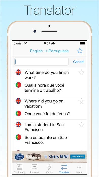 Screenshot #7 for Portuguese Dictionary & Translator +