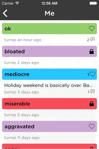 Moodtrack Private Diary screenshot 2