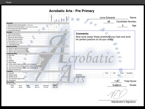 Acro Adjudicator screenshot 2