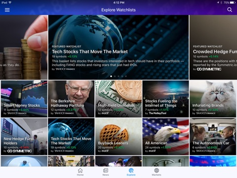 Yahoo Finance screenshot 3