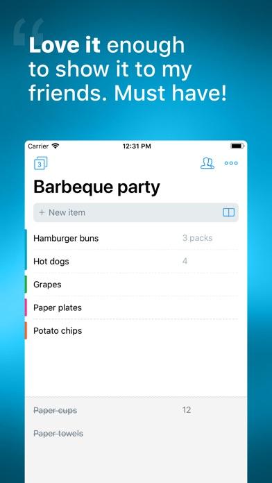 Buy Me a Pie! - Shopping List Screenshots