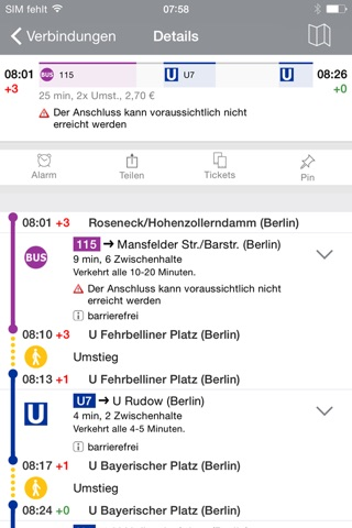 BVG FahrInfo Plus Berlin screenshot 2