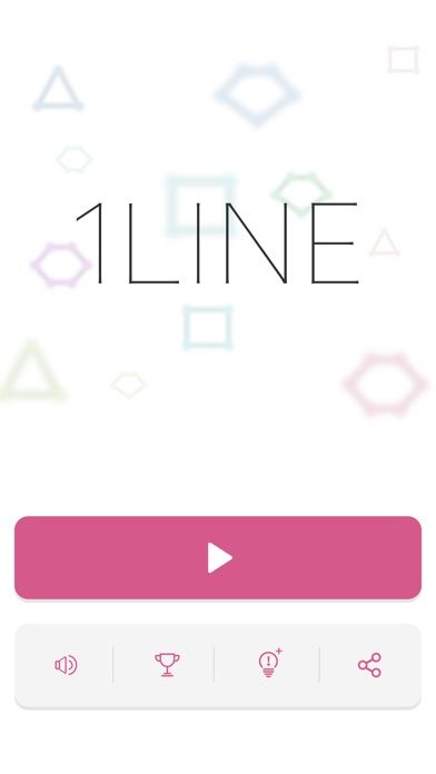 Screenshot of 1LINE one-stroke puzzle game App