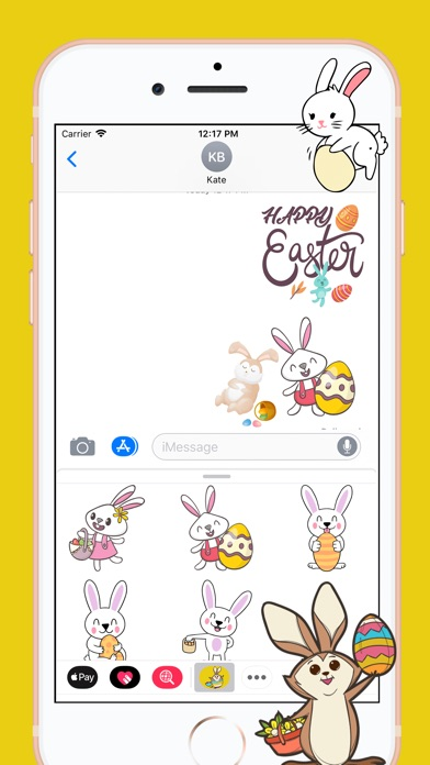 download Easter Rabbit 2018 Stickers apps 0