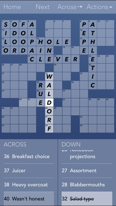 iPhone Screenshot 2 & Crossword Puzzles! on the App Store 25forcollege.com