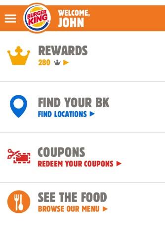 BURGER KING® App - New Zealand screenshot 1