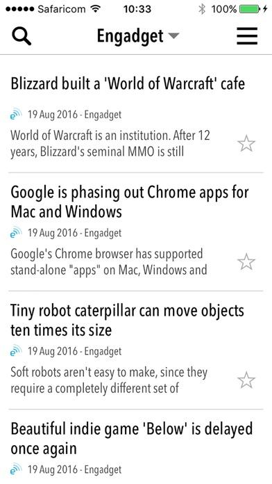 NewsBar RSS reader screenshot1