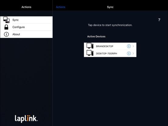 Laplink Sync Pro Screenshots