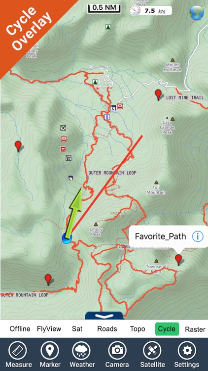 Big Bend National Park GPS outdoor map with guide by Flytomap