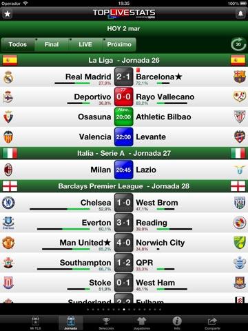 TLS Football - Premier Stats screenshot 2
