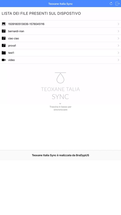 Teoxane Italia Sync screenshot 2