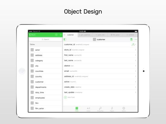 Screenshot #1 for Navicat for MySQL - mobile database management GUI