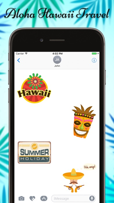 Hawaii Travel & Vacation Stickers screenshot 2