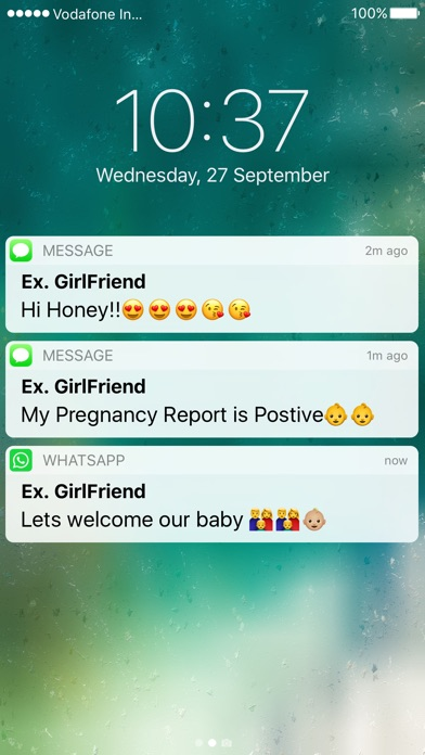 Screenshots of Fake Message - Send Fake Text Message For Free for iPhone