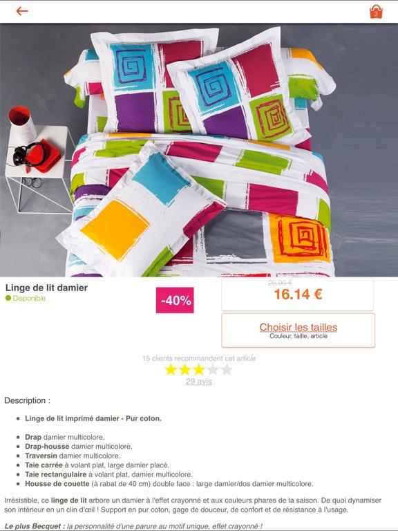 becquet le linge de maison dans l app store. Black Bedroom Furniture Sets. Home Design Ideas