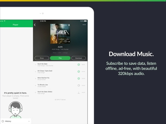 JioSaavn (formerly JioMusic) Screenshots