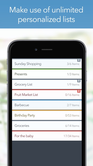 grocery list app with prices