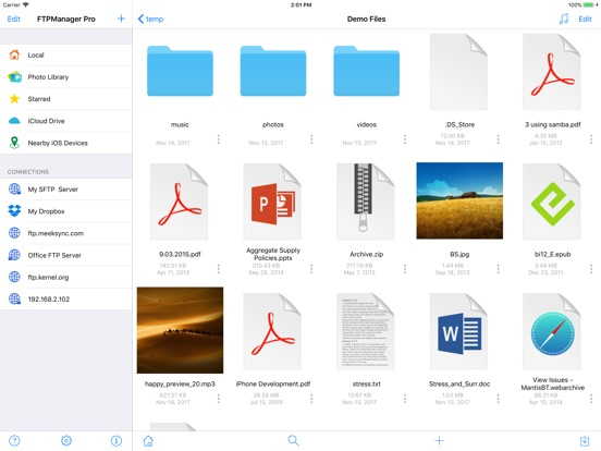 FTPManager Pro Screenshots
